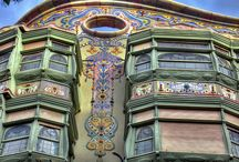"""Gaudi - Barcelona / """"Color in architecture must be intense, logical and fertile,"""" Gaudí - Was there ever such a joyful genius as Antoni Gaudi - His use of natural forms and local crafts makes his architecture a source of wonder and delight / by Maya Heath"""