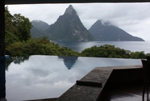 Jade Mountain and Anse Chastanet Resorts, St. Lucia / Luxury resorts cut into the mountainside of #StLucia in Soufriere. / by Adrienne The Travel Specialist