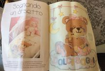 Punto croce orsetto copertina culla / punto croce orsetto culla copertina