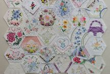 English Paper Piecing/Hexagons/Quilts