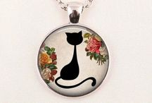 Beautiful  cat lovers Jewellery / Beautiful quirky jewellery . Perfect as gifts . Get one today at www.juicyfashion.co.uk