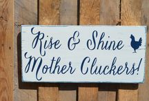 Rustic signs crafting