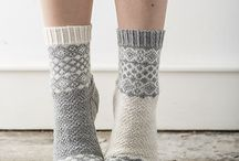 Knitting, Crocheting socks and slippers