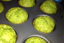 Spinach banana muffin