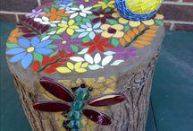Mosaic garden projects