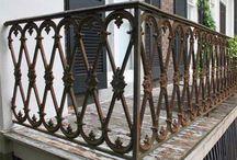 Cast iron balcony etc