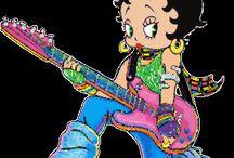 betty boop guitare