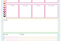 DIY PLANNERS / Pages printables, stickers, tutorials