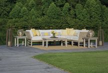 Outdoor Modular Furniture / The latest trend in patio furniture is modular furniture.  Polished and practical, modular furniture offers the freedom to customize the layout of your outdoor living area.  Modular furniture comes in components including corners, middle sections and tables that can be placed in between, allowing for variable arrangement.