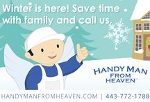 Handyman From Heaven Art / This board contains a collection of custom artwork made for Handyman From Heaven, a handyman and home-improvement services provider based out of Rosedale, Maryland.