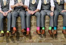 Posing groomsmen