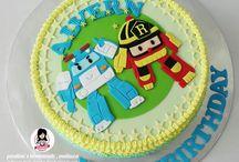 Torta Robocar Poli / Robocar Poli cake ideas Torta Robocar poli ideas