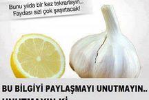 SAĞLIK İÇİN BİLGİLER / by Aynur Tüfekçi