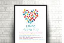 Prezent dla mamy / Spersonalizowany plakat, grafikia, prezent dla mamy na urodziny, Dzień Mamy