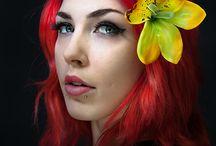 rockabilly hair flowers