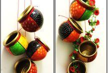 cacharros ,campanas,etc pintadas