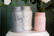 Home-made Glass Vases and Candles