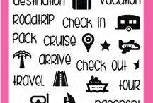 Planning Vacation / Clear stamp from pinkandmain.com