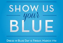 """Go Blue for Colorectal Cancer Awareness / March is colorectal cancer awareness month. It's the third most commonly diagnosed cancer and the second leading cause of cancer death in men and women combined in the US. But it can be prevented with screening. """"Go blue"""" for colon cancer awareness and let others know screening saves lives."""