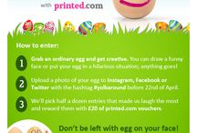 #YolkAround Easter Design Competition / Ready for a challenge? Make us crack up with a hand-painted egg and we'll send you £20 of printed.com vouchers! #YolkAround with printed.com  / by printed.com