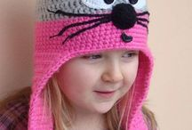 Crochet hats,scarves and mittens