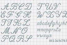 Punto croce lettere