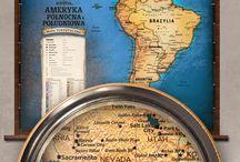 Mapy ścienne / Turystyczne mapy ścienne, podróże, marzenia