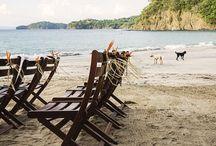 ARTFLOWER: Colorful Gold Wedding / Playa Virador Four Seasons Costa Rica