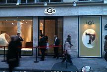 UGG / La marque Australienne UGG s'est installée à la Cremerie de Paris, rue des Halles entre Octobre-Janvier 2012-2013. Tout un programme !