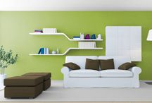 Warm Green, Media and Cold for Your Interior