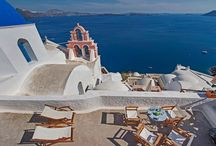 "Villa Opuntia #Santorini #Greece #Island / This villa is the ""it"" property of Santorini, positioned in the quintessential location of Oia's postcard views-at Oia's famous blue dome. http://www.mygreek-villa.com/fr/rent-villa-search-2/villa-opuntia"