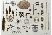 Arany-ezüst tetováló matrica