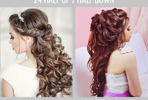 Hairstyle for wedding or everywhere / Different hairstyles