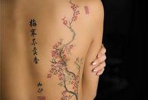 Tree tattoo / Jemné a krásné tetování stromů.