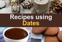 Dates Recipes, Khajur Recipes / Dates are loved in the Middle East and in India.