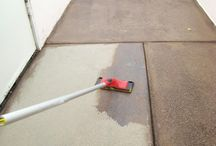 CONCRETE STAIN-- PATIO