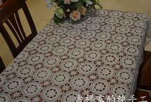 crochet tablecloth [+pattern]