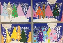 winter art for children