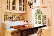 Wood furniture and brick / Etkezo