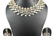designer pearl and kundan choker-Jewellery-Runjhun Designer Jewellery
