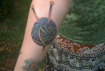 Knitting tattoo ideas