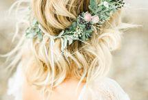Blomsterkrans+brudbukett