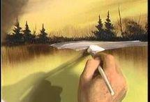 paysage acrylique