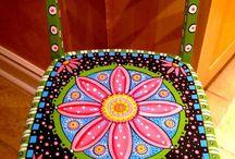 Painted stools