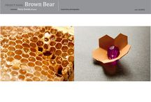 "MY PROJECT ""Brown Bear"" for Swarovski / As trends for Autumn/Winter 2011/2012 I designed earings and necklace.Collection is called ""Brown Bear"". An inspiration is eco trends,shapes taken from nature, honey cells"