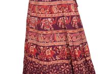 Women's Long Printed Skirt