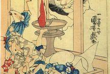 UKIYOE / <名所江戸百景 亀戸天神境内 :  KAMEIDO TENJIN KEIDAI> PRECINCTS OF THE TENJIN SHRINE AT KAMEIDO HIROSHIGE UTAGAWA  1797-1858  Last of Edo Period