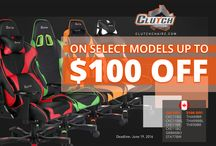 Gaming Chairs on SALE in Canada / Clutch Chairz have a massive SALE of their GAMING CHAIRS! Limited quantities on select models!