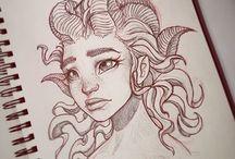 inspirace na kreslení