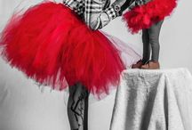 Women's tulle skirt with matching girls tutu